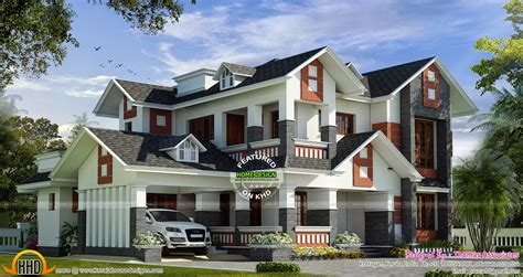 house design dormer windows modern mix house with dormer windows kerala home design
