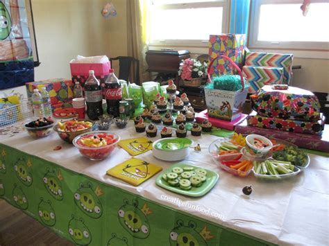party themes with food creative food angry birds birthday party ideas