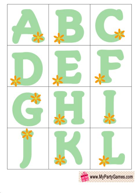 printable alphabet letters for baby shower free printable baby shower alphabet introduction game ice