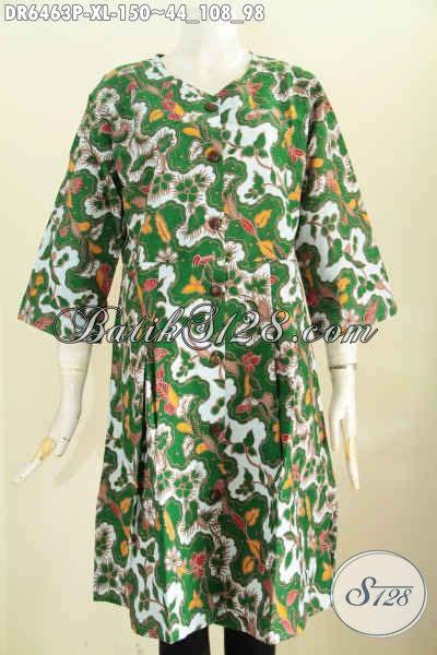 Baju Batik Warna Hijau dress batik warna hijau pakaian batik modern produk