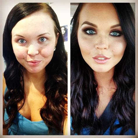 Before And After Makeover Pictures Of Our Single Makeup Of The Day Before And After Glam By Makeupbynia