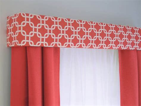 Coral Valance Curtains Coral Geometric Cornice Board Valance Window Treatment Modern Custom Valence Box Curtain