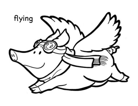 flying pigs coloring page adult coloring flying pig coloring pages