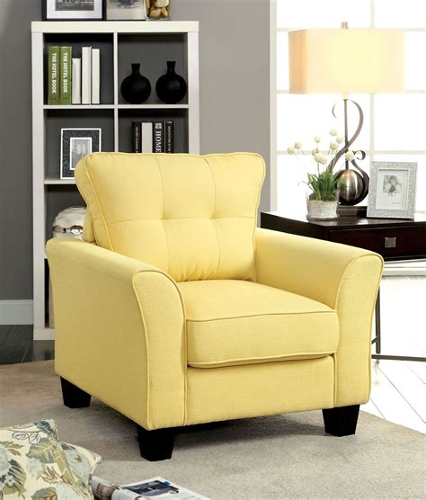 yellow living room set yellow fabric living room set from furniture of america cm6266yw sf coleman furniture
