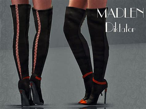 the sims resource tsr madlen diktator boots by mj95