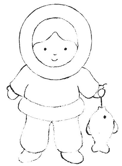 eskimo coloring pages 6 eskimo colouring pages stock
