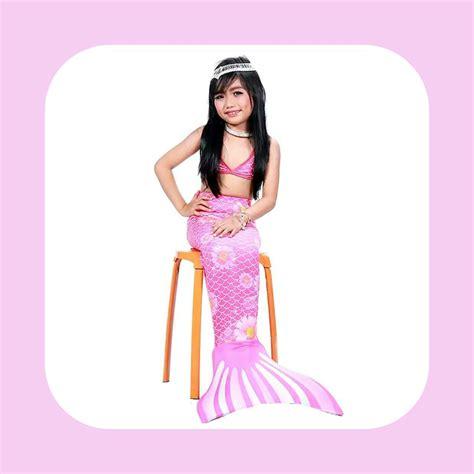 Produk Berkualitas Baju Renang Mermaid Atau Kostum Putri detail produk dan harga baju putri duyung pink flower toko bunda