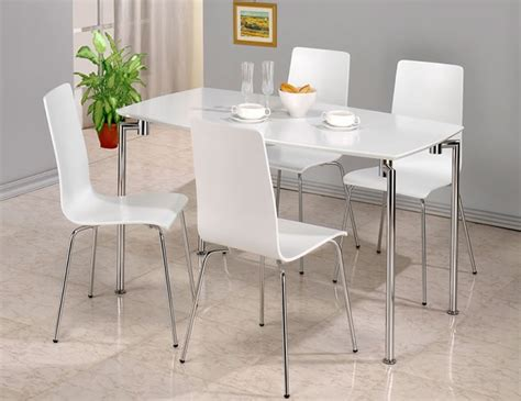 Dove White Rectangle Dining Table And 4 Chairs White Rectangle Dining Table