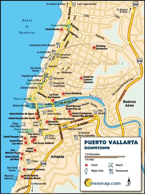 vallarta map of mexico vallarta and mexico on