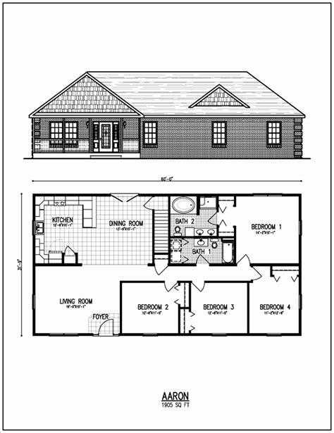 home building floor plans ranch style house plans unique open floor small home