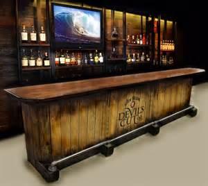 Custom Bar Tops For Sale Home Bar Custom Built Rustic Whiskey Pub By