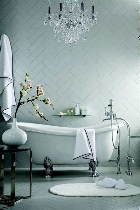 pretty bathrooms pinterest chevron tile wall beautiful bathrooms pinterest