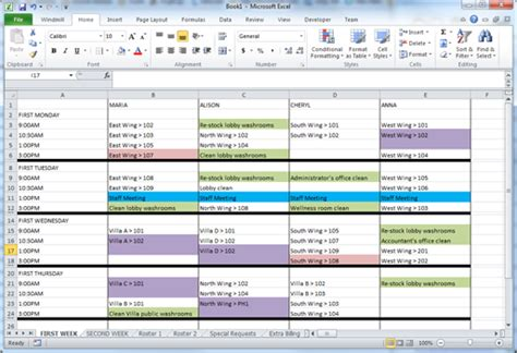 program schedule template excel theworxhub help site