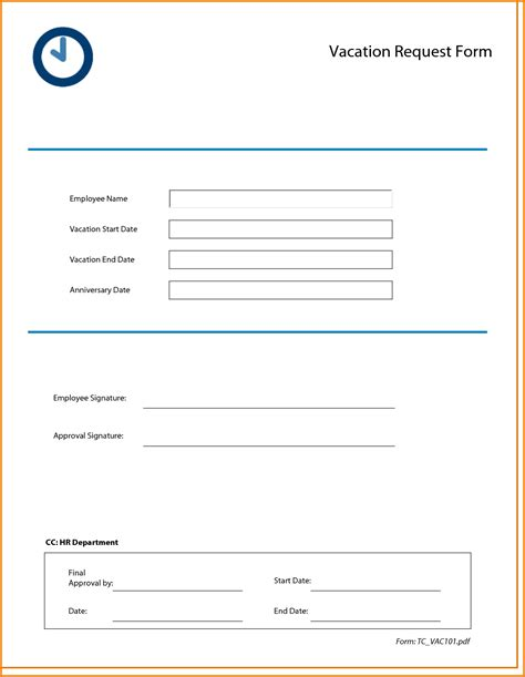 request calendar template vacation request form templates free calendar template