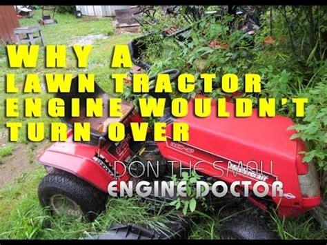 lawn tractor engine   turn  youtube