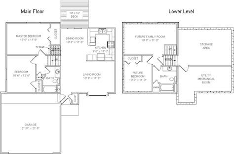 tri level home floor plans tri level house plans design