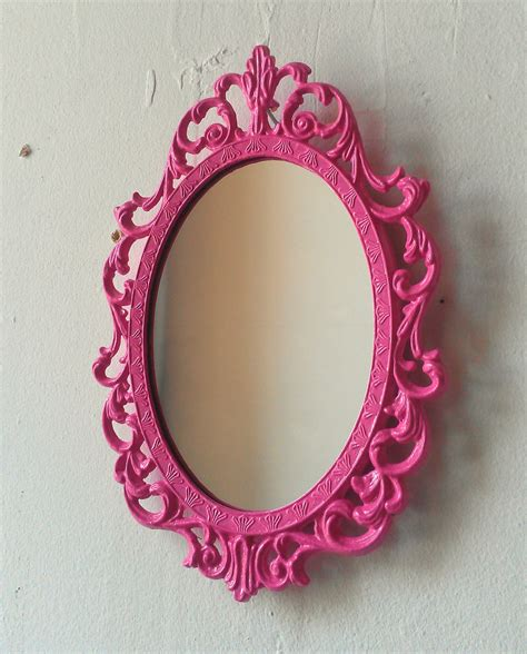 Little Mermaid Bedroom Decor fairy princess mirror ornate vintage frame in party pink 7