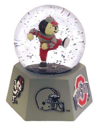 snow globe with fan buckeyes snow globe ohio state buckeyes snow globe