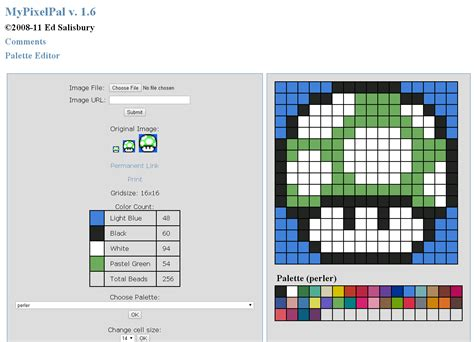 Online Pattern Maker | 5 free perler bead pattern makers