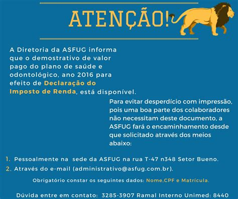 demonstrativo para imposto de renda do inss ano 2015 asfug not 237 cias