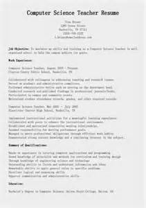 Computer Science Resume Objective by Computer Resume And Cover Latter Sles Vntask