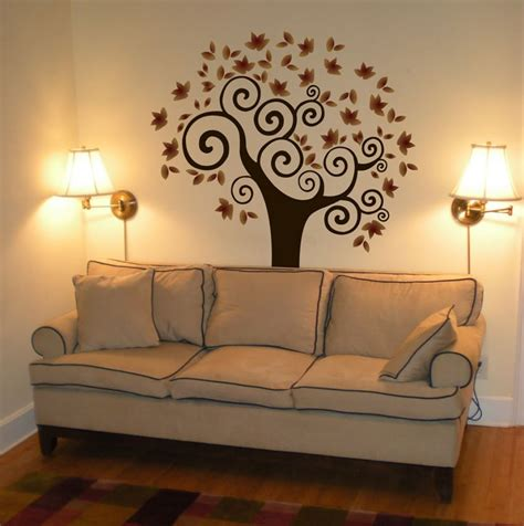 painting wall decoration for your home interior with stunning tree