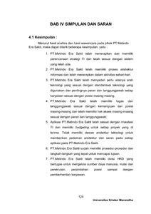 Metindo Era Sakti analisis sistem informasi penjualan dan it pt metindo era