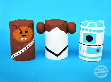 Free Toilet Paper Roll Crafts - cardboard wars characters family crafts