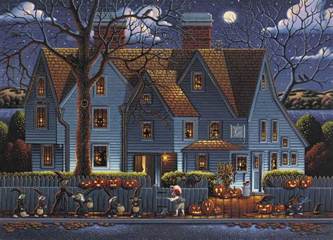 house seven house of seven gables puzzle dowdle folk art