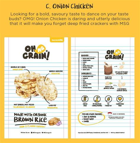 Jual Oh Ma Grain by Oh Ma Grain Organic Brown Rice Crackers Snack