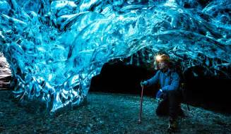 cave iceland inside vatnajokull winter ice caving tour in vatnajokull glaciers in iceland