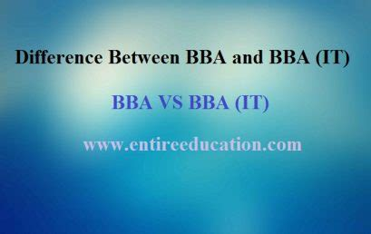 Differece Betweent Mba And Bba by Entire Education Universities Admissions