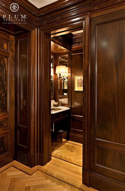 Mahogany Wainscoting Panels by Mahogany Paneled Walls Traditional Bathroom Mcgill