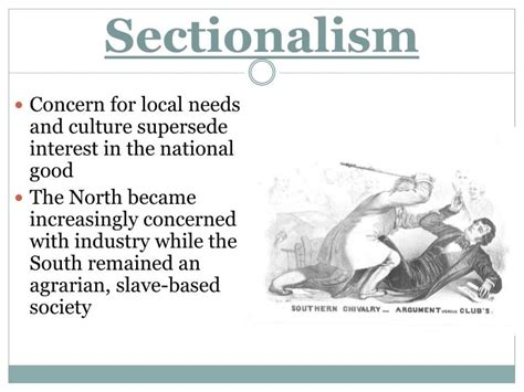 economic sectionalism ppt economic and social divisions between north and