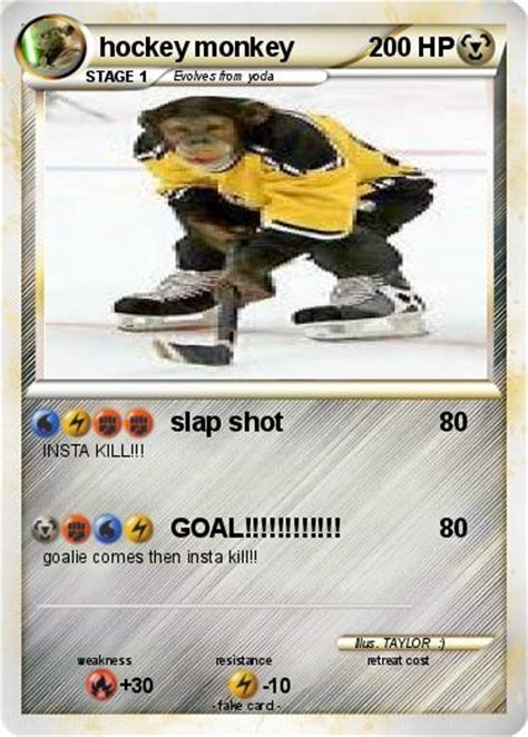 Hockey Monkey Gift Card - pok 233 mon hockey monkey slap shot my pokemon card