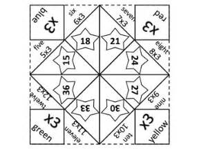 Multiplication Fortune Teller Template by Multiplication Fortune Teller X3 By Kierry