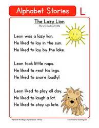 kindergarten reading comprehension worksheet alphabet