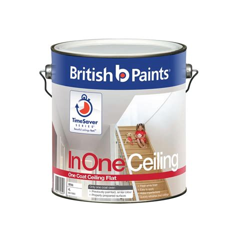 One Coat Ceiling Paint by Paints Inone 4l White One Coat Ceiling Paint I N