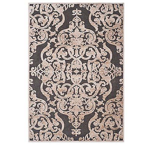 Damask Kitchen Rug Safavieh Paradise Collection Venetian Damask Rug In Anthracite Bed Bath Beyond