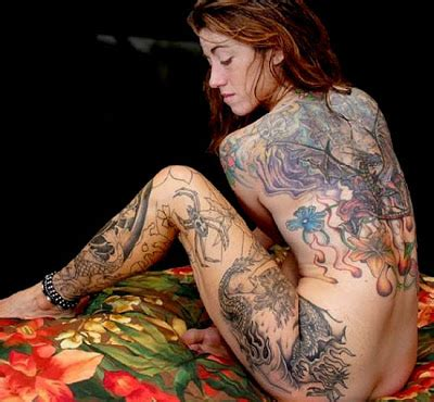 tattoo girl in body pictures maila beauty girl full body tattoo