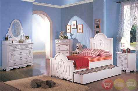 white bedroom set for girl sophie girls white traditional twin bedroom set w floral panel bed free shipping