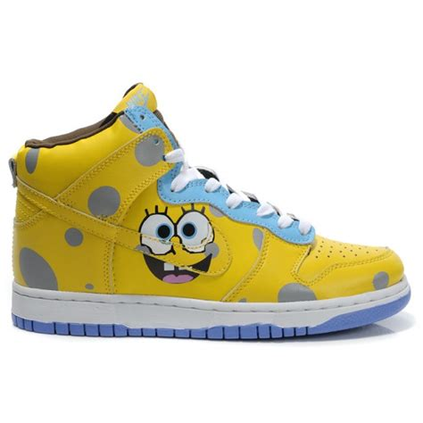 spongebob basketball shoes high tops nike dunk shoes spongebob squarepants for sale