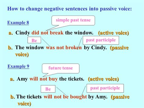 pattern in changing active to passive voice active voice 主動式 vs passive voice 被動式 ppt video