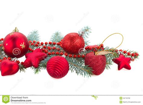 images of decorations fir tree branch and decorations stock photo