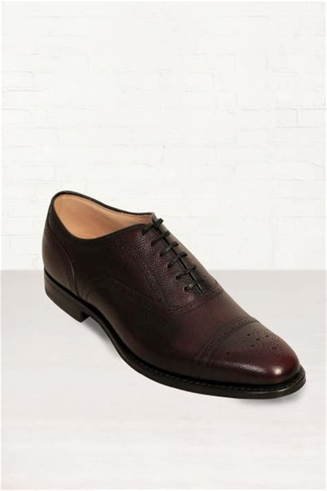 burgundy oxford shoes church s burstock burgundy leather oxford shoes in purple