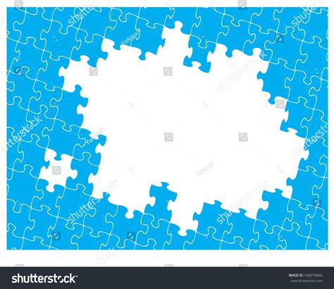 hole pattern en francais blue jigsaw pattern with hole for your own design jigsaw