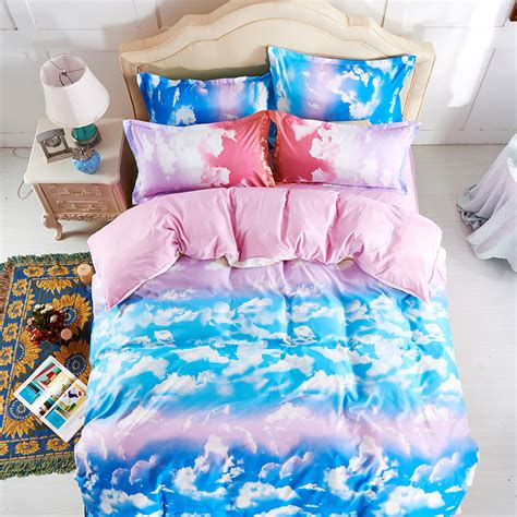 sky bedding fashion the blue sky and white clouds bedding sets 4pc bed