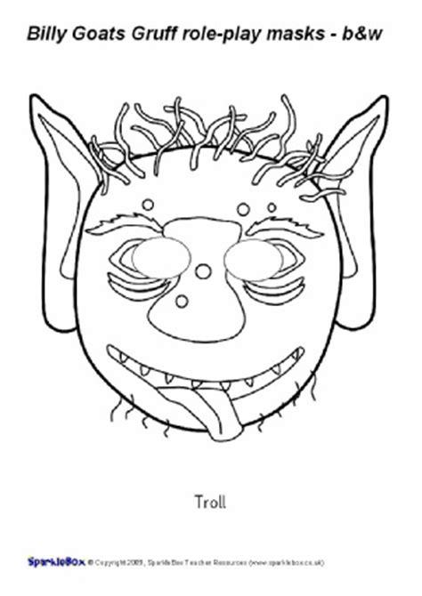 printable version of the three billy goats gruff eyfs ks1 printable fairytale roleplay masks sparklebox