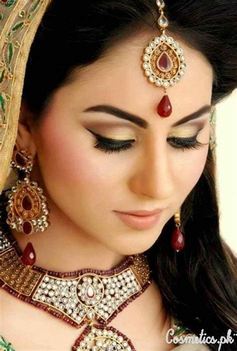 Latest Pakistani Bridal Eye Makeup 2015   Beige