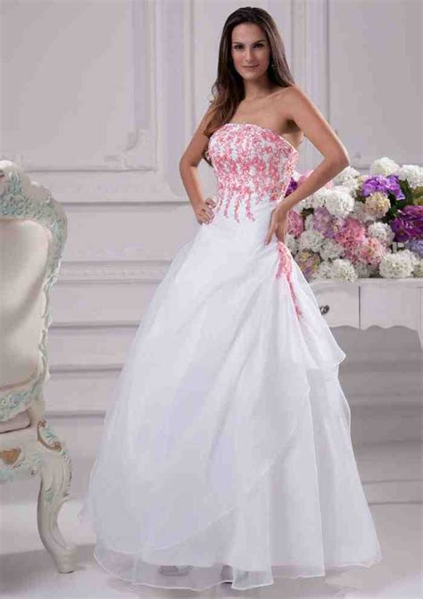 pink and white dress pink and white wedding dresses wedding and bridal